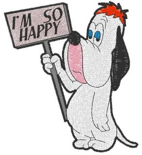 Droopy happy